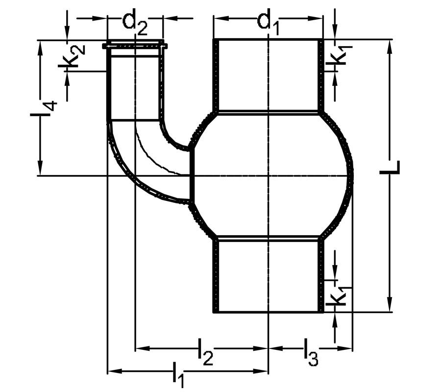 Fabricated fittings manifolds drawing